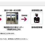 阪急沿線で忘れ物をしたときの電話