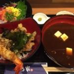阪急茨木市駅併設しているロサヴィアの中にある「堂島 とろ家 阪急茨木店」で週替り丼を食べる