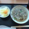 徳島空港で名物?の肉吸いを食べる