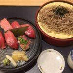 伊丹空港のがんこで本マグロ膳+そば付きを食べる